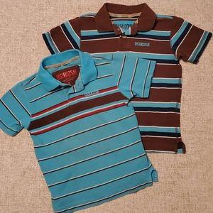 OshKosh B'gosh Shirts & Tops - Oshkosh Boys 5 Brown light Blue Polo short sleeve